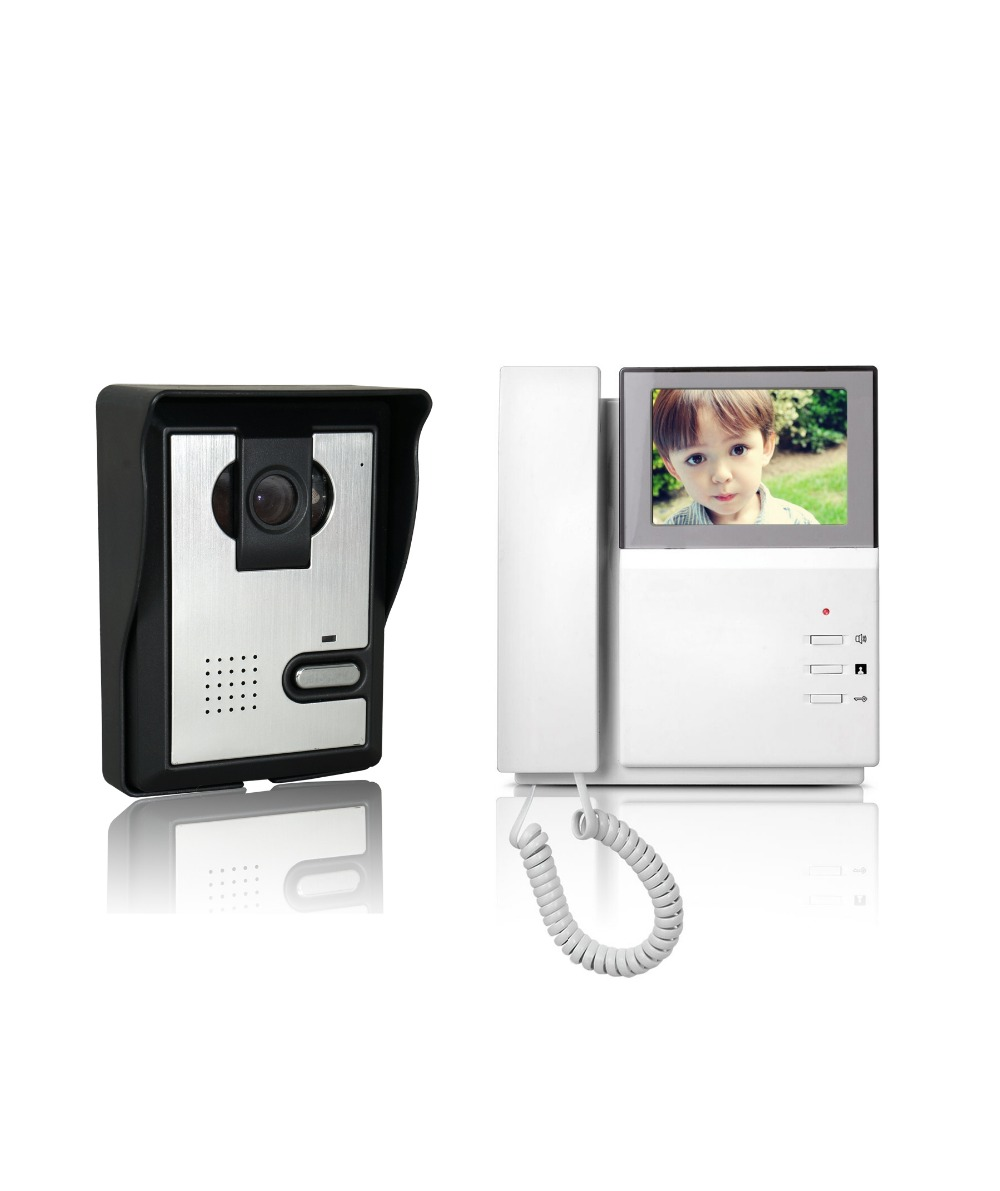 Hot Selling Smart Home White Wired 4.3 LCD Screen Video Intercom Phone,One to One Video Doorphone Kit Configuration D132a<br><br>Aliexpress