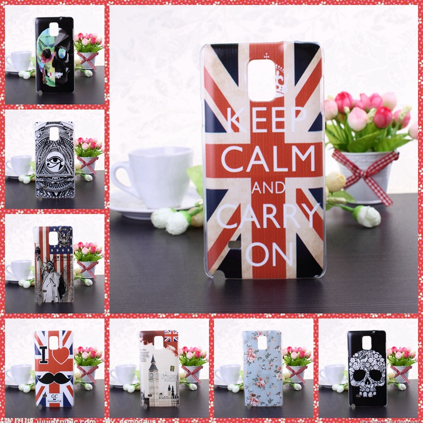 Fashion New Free Shipping painted sculptures hard Case Cover for Samsung Note 4(China (Mainland))