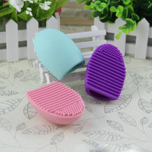 1Pcs Cleaning MakeUp Washing Brush Silica Glove Scrubber Board Cosmetic Clean Tools