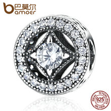 Buy BAMOER Original 925 Sterling Silver Round Shape Clearly CZ AAA Zircon Charms Fit Bracelets Beads & Jewelry Making PAS382 for $8.35 in AliExpress store
