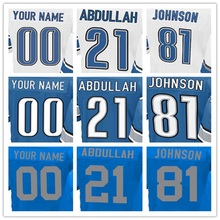 100% Stitched With Customized #9 Matthew #15 Golden #20 Barry #21 Ameer #81 Calvin Men's Elite Jersey Blue Light Blue White Jers(China (Mainland))