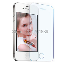 wholesale screen protector HD clear ultrathin 0.3mm protective tempered glass panel film for iphon 4s 4 iphone