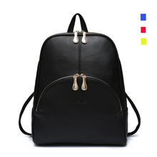 2016 Fashion Backpacks Women PU Leather School Bag Girls Female Candy Colors Travel Shoulder Bags Waterproof Back Bags Mochila(China (Mainland))