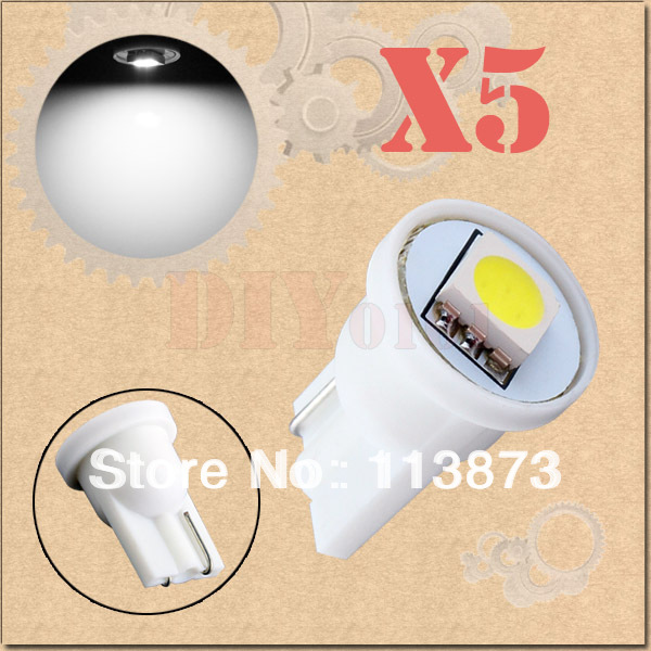 DHL/EMS Free shipping 500pcs T10 1 SMD 5050 Pure White License Plate 194/501 W5W 1 LED Car Light Bulb Lamp(China (Mainland))