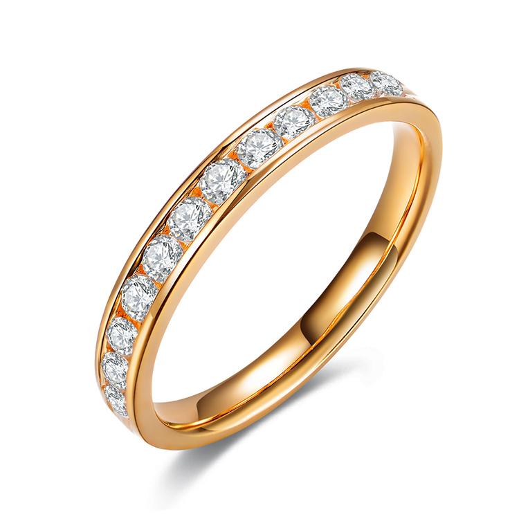Здесь можно купить  2015 New Arrival ZOCAI 0.48 CTTW channel setting real diamond wedding ring 18K yellow gold diamond ring jewelry JBW00108  Ювелирные изделия и часы