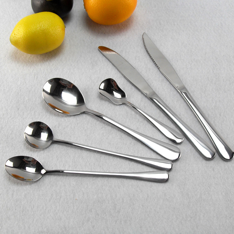 Buy Tableware Cutlery Sets Steak Knife Dinner Fork Coffee Spoon 24 Different Stainless Steel Tea Soup Spoon Salad Fork Free Shipping cheap