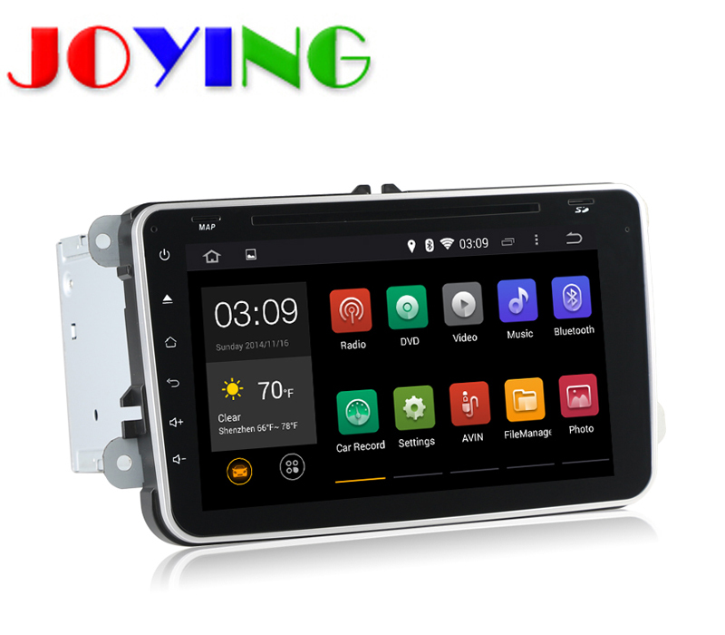Quad Core 1024*600 2 Din Android 4.4 VW Car Radio Audio DVD GPS GOLF 4 5 6 Polo Bora CC JETTA PASSAT B5 B6 Tiguan SKODA OCTAVIA(China (Mainland))