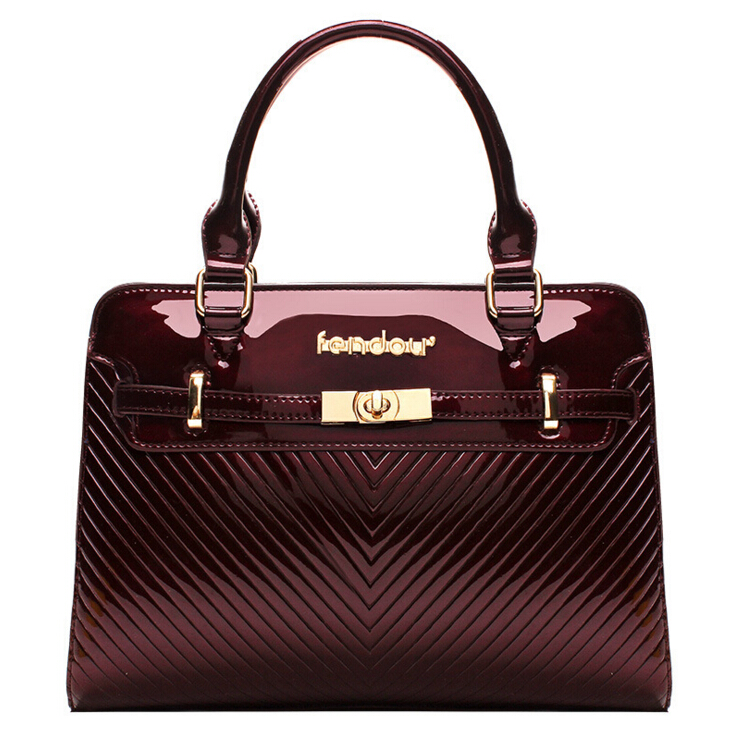 2016 new hot women fashion designer handbags quality patent leather shoulder bag ladies clutch bag shoulder bags Free shipping(China (Mainland))