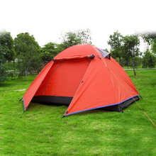 Hot sale High Quality New Tents 2person 2014 Outdoor Camping Equipment Waterproof Double Layer Dome Aluminum pole Camping Tent