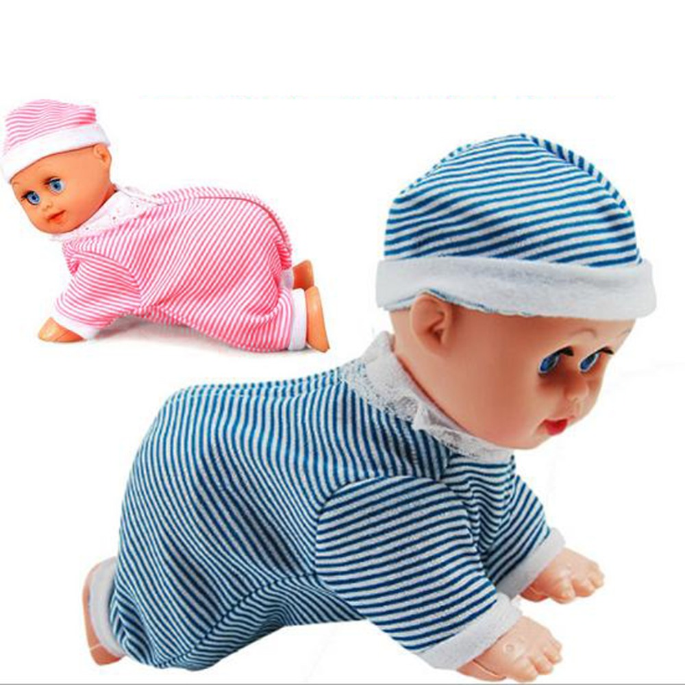 Cute Baby Doll Toy Clever Baby Laugh Music Dance Learn Crawl Funny toy  For Kids Brinquedos Free Shipping<br><br>Aliexpress