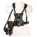 Carrier II Multi Dual 2 Camera Carrying Chest Harness System Vest Quick Strap with Side Holster