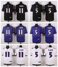 Baltimore Ravens #89 Steve Smith Sr Elite White Black Alternate and Purple Team Color High quality free shipping(China (Mainland))