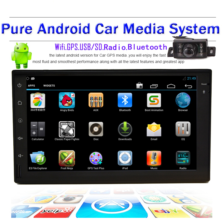 Double 2 Din Android 4.2 Car Electronics 2 din 7'' inch GPS Navigation Car Stereo Radio DVD Player Player Bluetooth iPod USB/SD(China (Mainland))