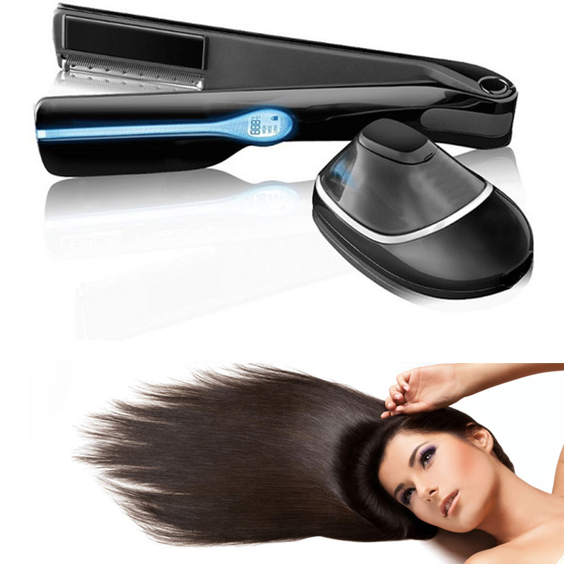 Magic Steampod Automatic Hair Straightener Brush Steam Hair Straighter Iron Steam Infusion Free DHL Drop Shipping