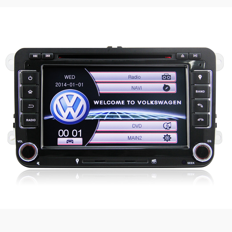 """7"""" In dash Car DVD player CD MP3 stereo radio tape recorder with GPS Fit For VW Golf Passat Tiguan Jetta DK7048(China (Mainland))"""