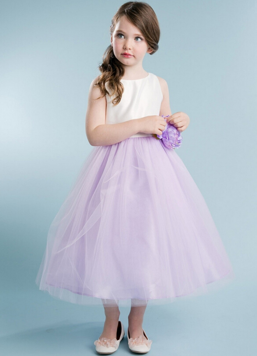 Cheap Lavender Flower Girl Dresses - Wedding Guest Dresses