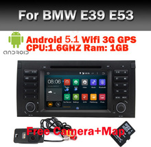 In Stock Android 5.1 Car DVD GPS for BMW E53 android E39 X5 with Wifi 3G Quad 1024X600 Bluetooth Radio RDS USB SD Free camera(China (Mainland))