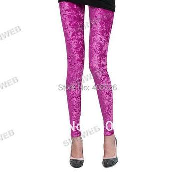 Fashion Women's Diamond Velvet Sexy Soft Stretch Leggings Slim Fit Pants Sheer 5 colors free shipping 29