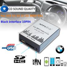Brand new USB SD AUX MP3 Music Adapte CD machine change  For Black Interface 10PIN  BMW E46 E36 E38 E39 K1 X3  X5 Z3 Z8 MINI R5X(China (Mainland))