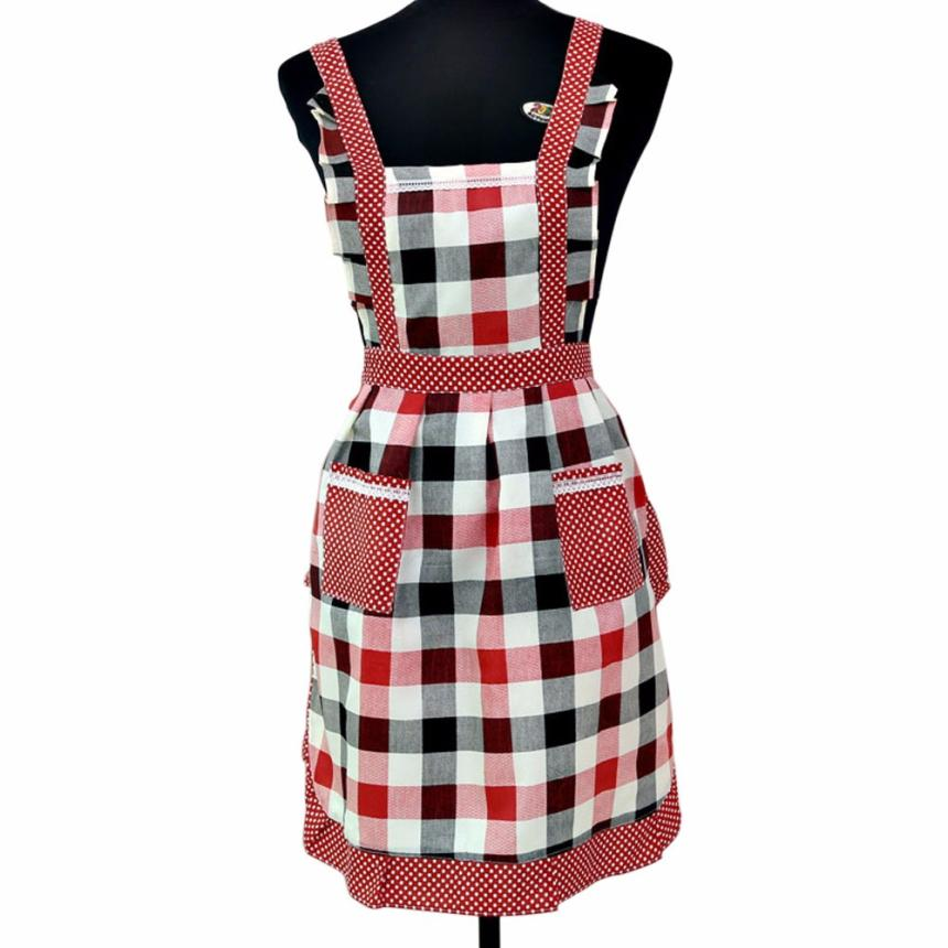 New Qualified HOT! Women Lady Restaurant Home Kitchen For Pocket Cooking Cotton Apron Bib dig6311(China (Mainland))