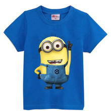 Despicable me Short Sleeve t shirt Children Minions Boys Clothes T-Shirts For Girls Boys t shirts Kids Baby Children's Clothing(China (Mainland))