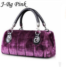 2016 new women's autumn winter rabbit fur handbags luxury fashion brand J-Bg Pink designer bag Messenger banquet - zhengzheng Store store