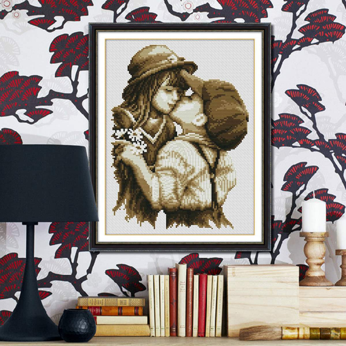 Fashion DIY Embroidery Kit Precise Printed Pure Kiss Design Handmade Needlework Cross Stitch Set Cross-Stitching Home Decoration(China (Mainland))