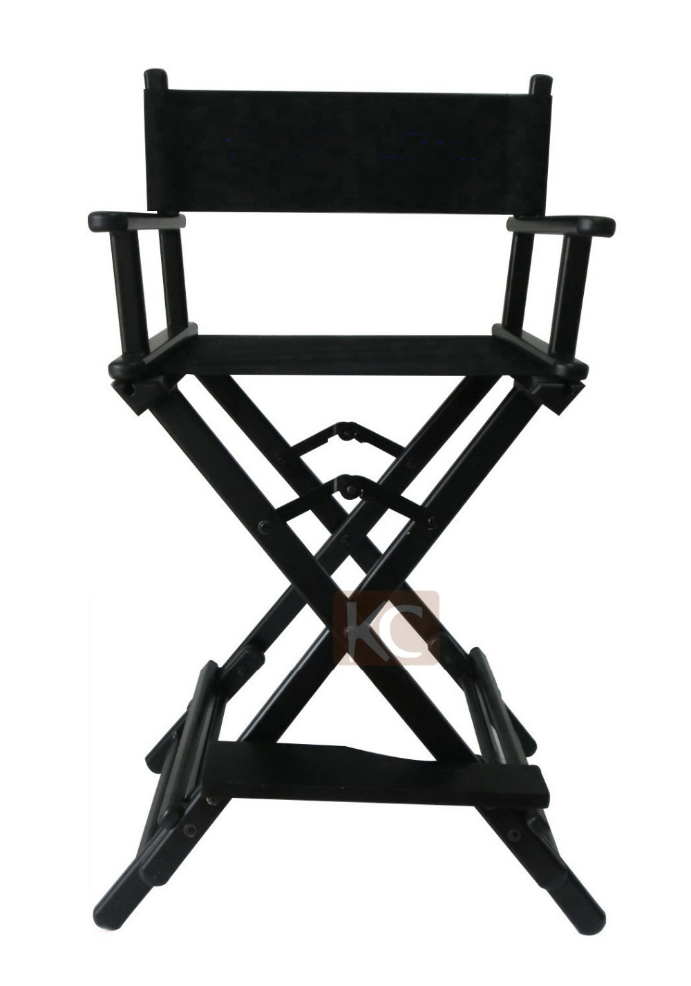 Portable makeup chair -  Folding Aluminum Director Chair Portable Makeup Chair Silver Black Color Available For Option