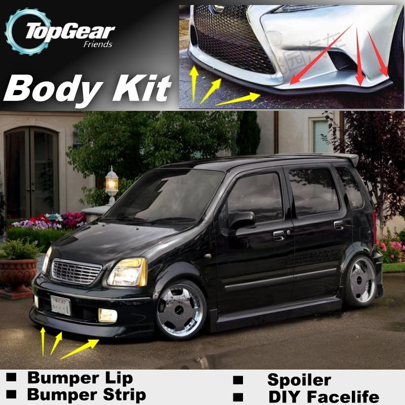 Bumper Lip Deflector Lips For Suzuki Karimun Wagon R / Solio Front Spoiler Skirt For TopGear Car Tuning / Body Kit / Strip<br><br>Aliexpress