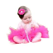 16 Color 2016 NEW Princess Baby Tutu with Matching Flower Headband Set Newborn Photography Props Little Girl Tutu Skirt(China (Mainland))