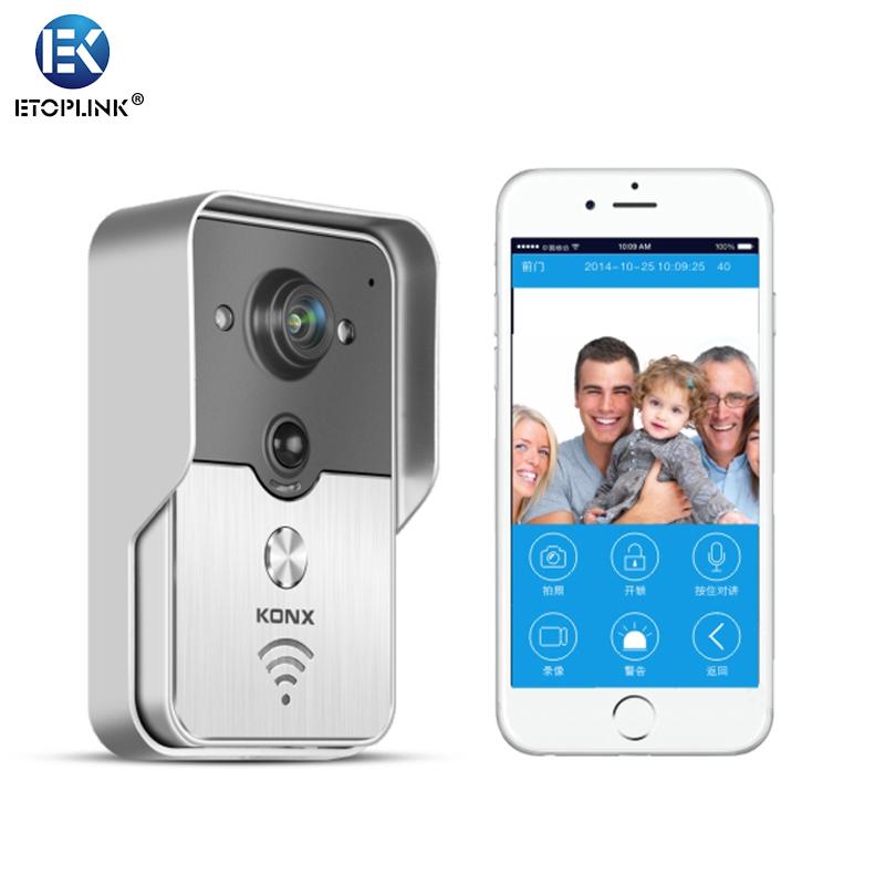 KONX Smart 720P HD Camera Digital Doorbell Wireless Remote Control Video Door Phone intercom Doorbell PIR IR Night Vision Alarm