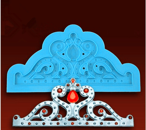 High Quality Silicone Lace Mold Crown Fondant Cake Decorating Tools Silicone Cake Mold Fondant Cake Tools Kitchen Accessories022(China (Mainland))