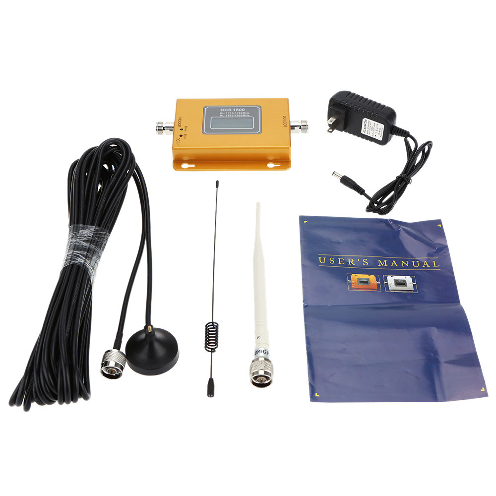 Quality High Gain GSM 900Mhz Mini Mobile Cell Phone Signal Booster Amplifier RF Repeater Kit 10M Cable & Sucker Antenna Set