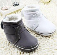 Fashion Super Warm Winter Baby Ankle Snow Boots Infant Shoes Pink Khaki Antiskid Keep Warm Baby Shoes First Walkers