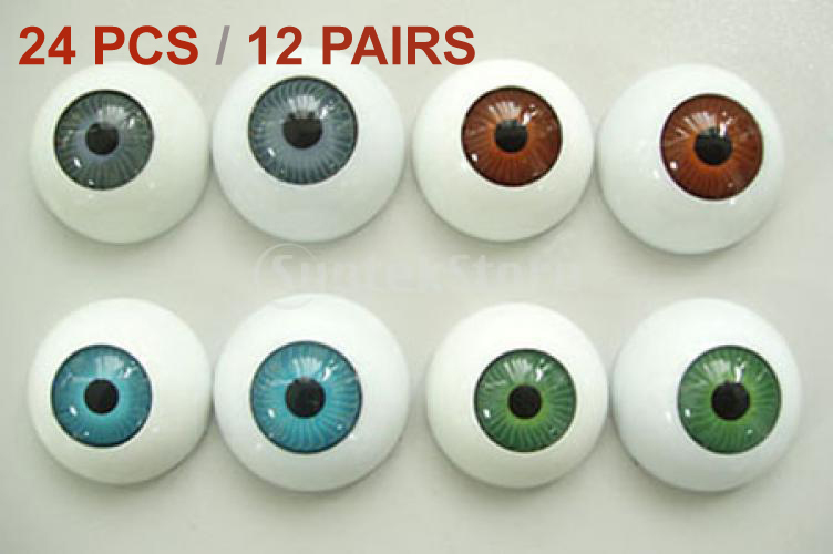 2015 Brand New 24 Half Round Hollow Eyeballs fit mask skull- Halloween Prop - Bling Fashion store