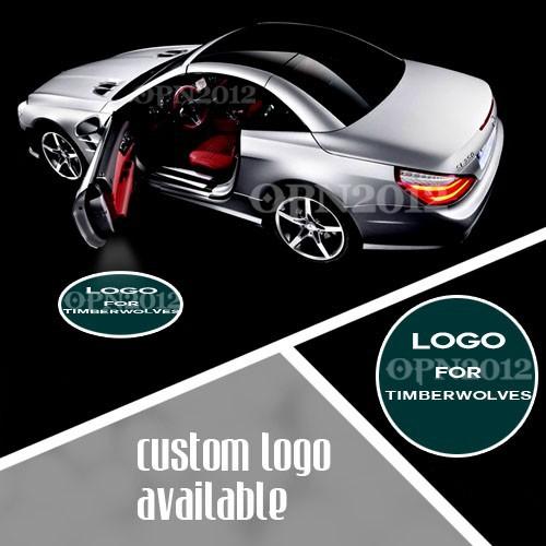 LED Car Door Emblem Logo Welcome Laser Projection Spotlight for MINNESOTA TIMBERWOLVES Basketball GOBO Logo Shadow Light 1345(China (Mainland))