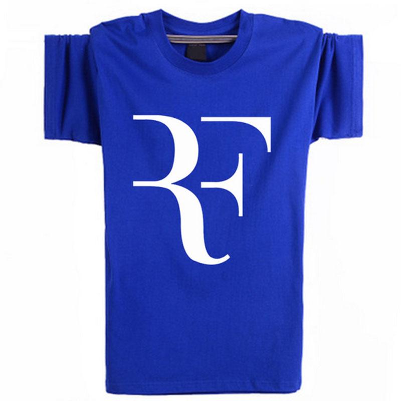 Roger Federer T Shirt Men Fashion Sport T-Shirts Tennis Star RF T Shirts Cotton Short Sleeve Tee Shirt Homme Brand Clothing(China (Mainland))