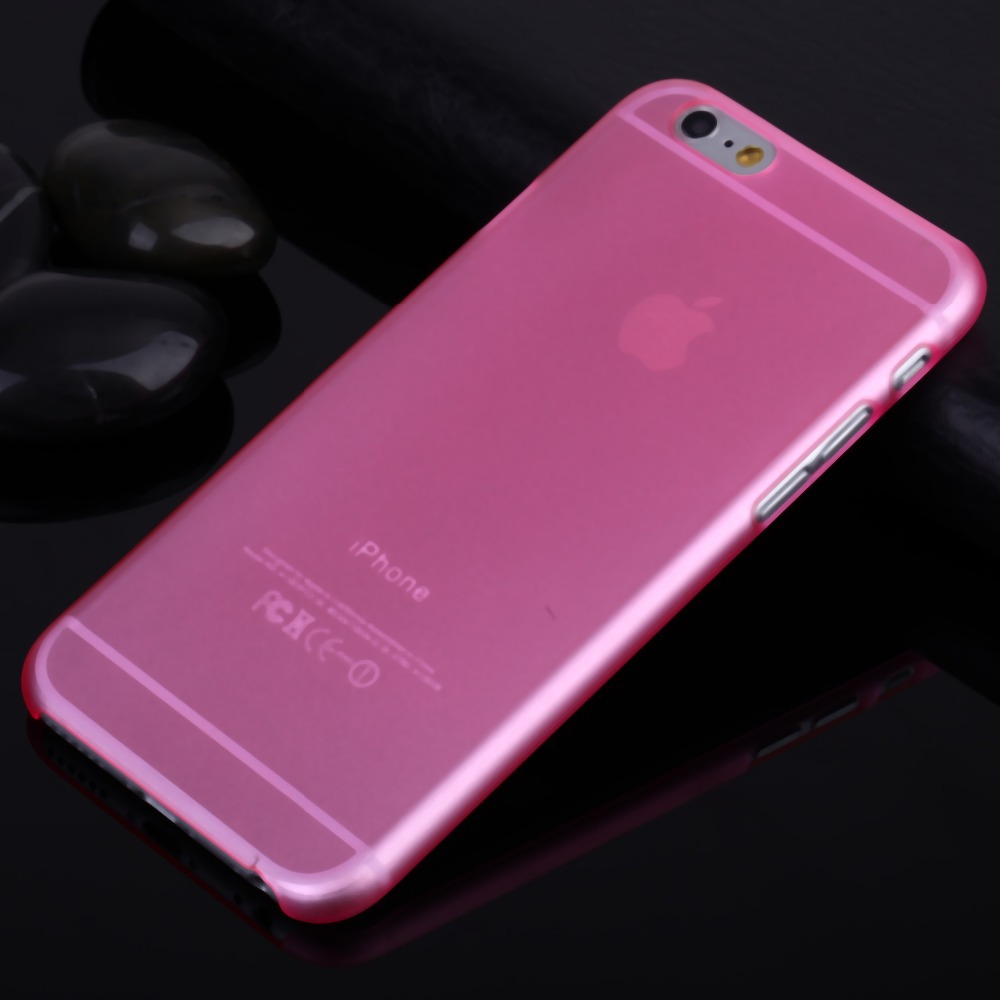 cell phone case for iphone 6 case 4.7 inch for i phone6 iphone6 plus 5.5 slim matte  transparent pc luxury hard back cover(China (Mainland))