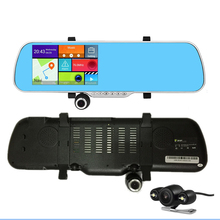 5 inch GPS Rear view camera Wifi Mirror Android 4.0 1080P+Digital Video Recorder+Rear view Camera Build in 8G 512M Free shipping