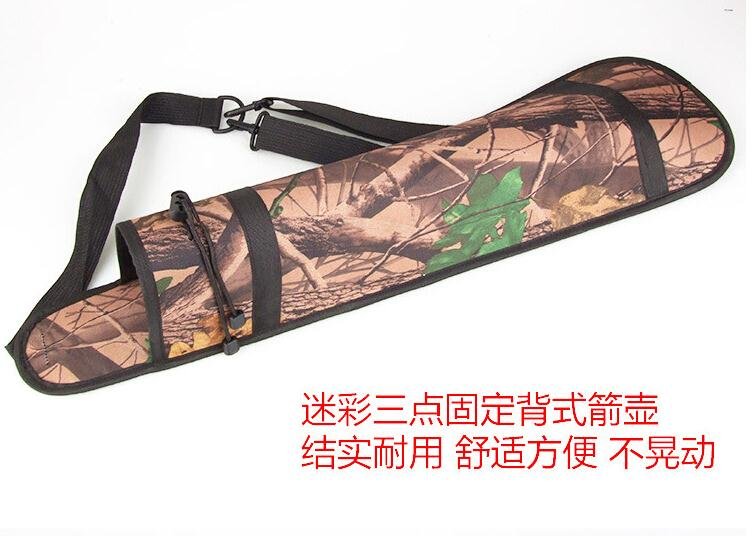 Three Point Waterproof Bundled Quiver Camouflage Bionic Camo Bow Bag Pouch Arrow Archery Supplies Hunting Messenger