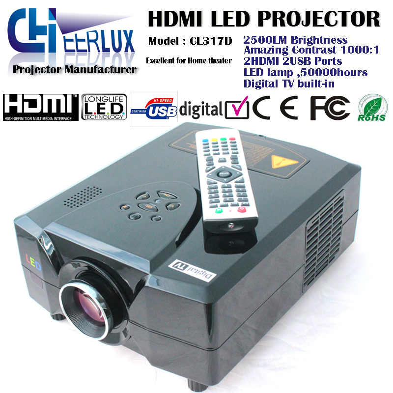 Brand new! free shipping! drop shipping! manufacture! 3d digital tv projectors for tv video broadcasting & home entertainment(China (Mainland))