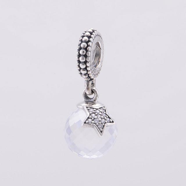 Подходит пандоры прелести браслет стерлингового серебра 925 кристалл проложить звезда мотаться бусины женщины DIY ювелирных изделий бесплатная доставка
