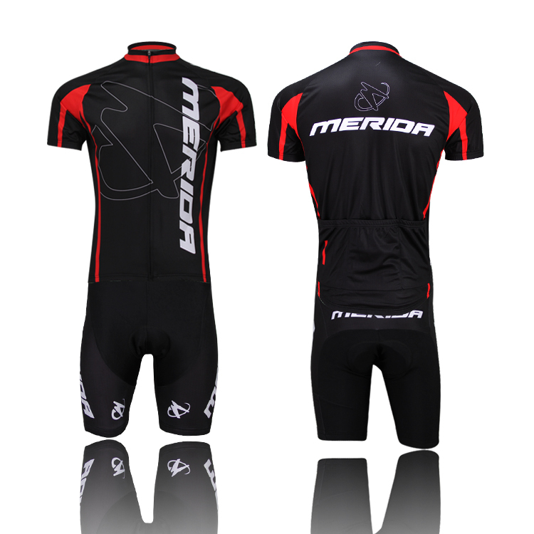 2015 Merida Cycling Sets Sportswear Team Cycling clothing short sleeve bike bicycle Cycling jersey +pants sets/ Cycling wear/
