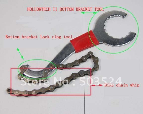 Multi-bicycle spanner.chain whip Bike bottom bracket tool lock ring tool Cycling repair tool set
