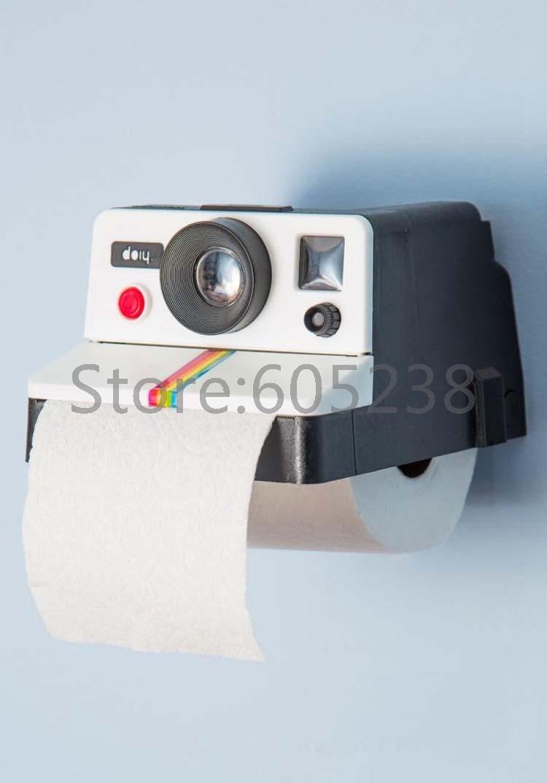 Free shipping 8 Pieces Retro Polaroid Camera Shape Inspired Toilet Roll Box/Toilet Paper Holder(China (Mainland))