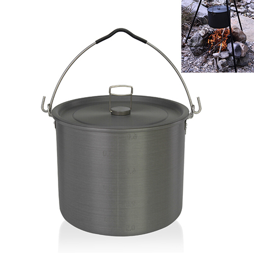 High Quality 2015 Original Alocs Camping Cookware 6.5L Hunging Pot 4-6 Person Portable Hanging Pot Tableware For Picnic Cookware(China (Mainland))