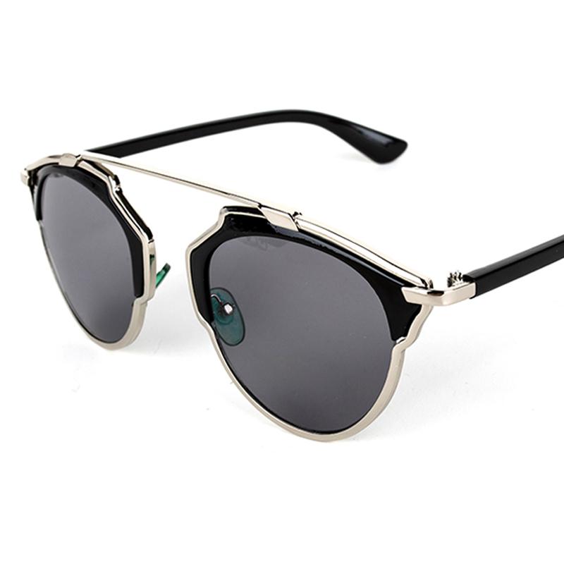 Vintage Metal frame Sunglasses Women Brand New Designer Cat Eye Glasses Fashion Women Decoration Men Classic Eyewear 7colors(China (Mainland))