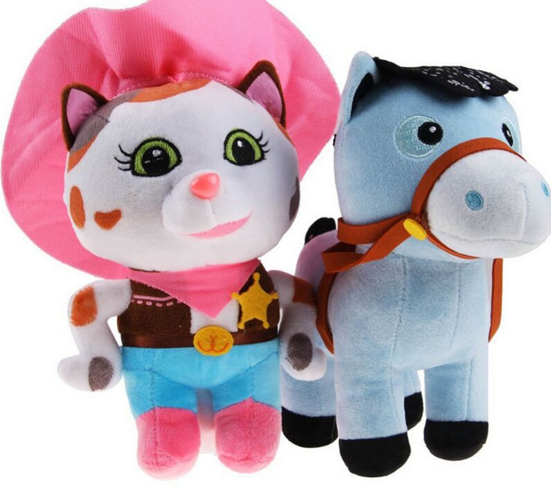 Newest Arrival Sheriff Callie's Tales of the Wild West Plush Toy,Sheriff Callie Cat and Horse Stuffed Dolls,Classic toys 2pcs(China (Mainland))