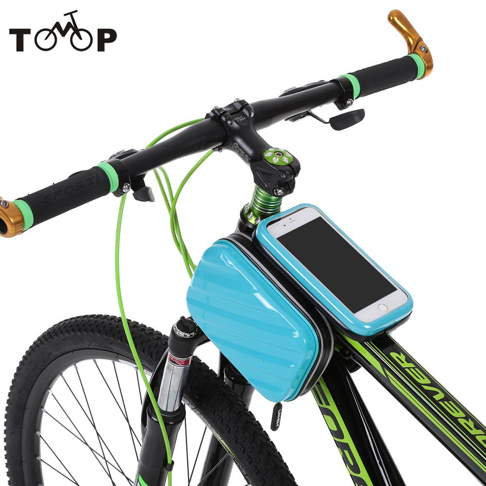 "Lixada Rainproof Bicycle Front Tube Bag Road Mountain Bike Bags Bicycle Handlebar Mount Holder Case for 5.5"" Cell Phones(China (Mainland))"