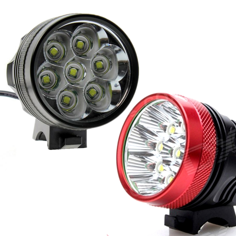 SecurityIng Waterproof 12000Lm 7 x CREE XML T6 LED Bright Bicycle Bike Front Flash Light + 8400mAh Rechargeable Battery Pack(China (Mainland))